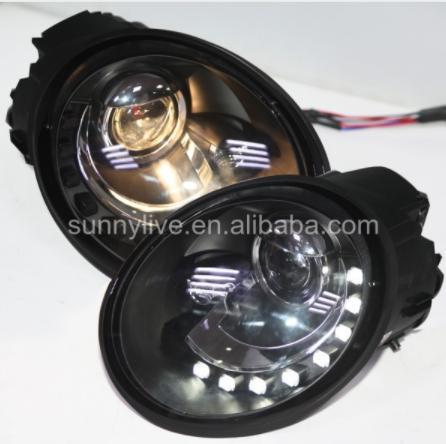 USヘッドライト[右ハンドル・日本仕様]VWビートル用ヘッドライトヘッドランプ1998-2005 SNブラックハウジングFor For VW Beetle led headlight led headlamp 1998-2005 SN Black Housing