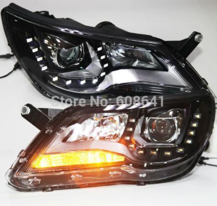 USヘッドライト[右ハンドル・日本仕様]VW Tiguan LEDヘッドランププロジェクターレンズ2010-12 LDタイプ用 For VW Tiguan LED Head Lamp Projector Lens 2010-12 LD Type