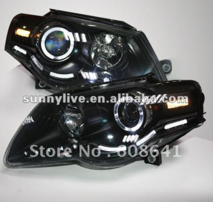 USヘッドライト[右ハンドル・日本仕様]VWマゴタンLEDヘッドランプエンジェルアイズ2007 - 2010 V1タイプFor For VW Magotan LED Head Lamp Angel Eyes 2007 - 2010 V1 Type