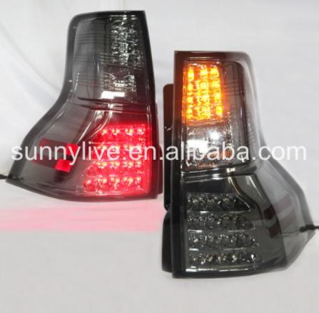 USテールライト[右ハンドル・日本仕様]FJクルーザーFJ150 Prado 2700 LEDテールライトスモークブラックカラ Full led rear light FOR FJ Cruiser FJ150 Prado 2700 LED Tail Lights Smoke Black Color 2009 -12 SN V3 Style