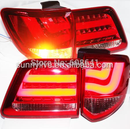 USテールライト[右ハンドル・日本仕様]新着2011年TOYOTA SW4 Fortuner YZV2赤い白のための-13年L New Arrival 2011 -13 year LED Rear Lamps for TOYOTA SW4 Fortuner YZV2 Red White