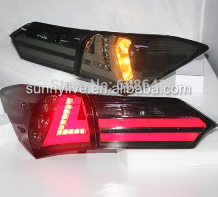 USテールライト[右ハンドル・日本仕様]TOYOTA Corolla Altis用LEDテールライト2014 YZスモークブラ For TOYOTA Corolla Altis LED Tail light 2014 YZ Smoke Black