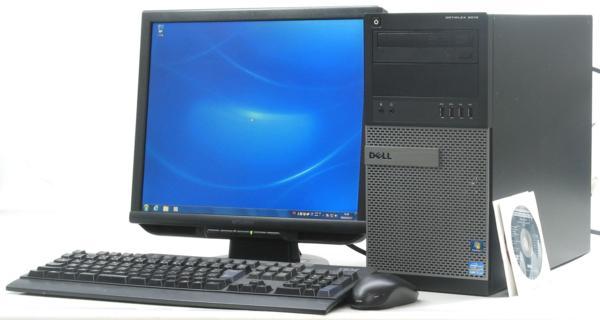中古デスクトップパソコン DELL Optiplex 9010-3400MT■17液晶セット (デル Windows7 Corei7 DVDスーパーマルチドライブ グラボ ビデオカード) 【中古】 【中古パソコン/中古PC】