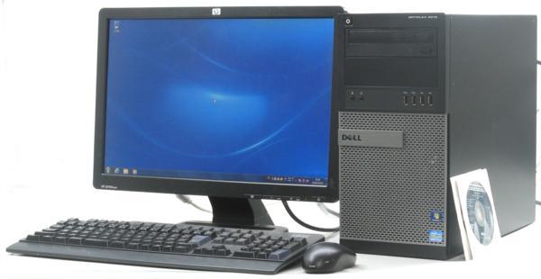 中古デスクトップパソコン DELL Optiplex 9010-3400MT■19W液晶セット (デル Windows7 Corei7 DVDスーパーマルチドライブ グラボ ビデオカード GeForce HDMI) 【中古】 【中古パソコン/中古PC】