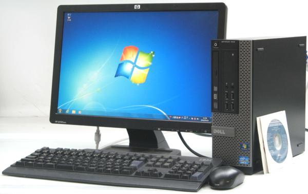 中古デスクトップパソコン DELL Optiplex 7010-3200SF■19W液晶セット (デル Windows7 Corei5) 【中古】【中古パソコン/中古PC】