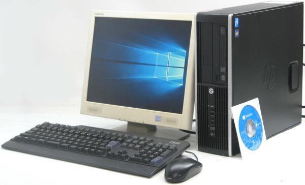 中古デスクトップパソコン HP Compaq 6300Pro SFF-2600■15液晶セット (ヒューレット・パッカード Windows10 Home 64bit(MRR)付 DVDスーパーマルチドライブ) 【中古】 【中古パソコン/中古PC】