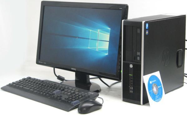 中古デスクトップパソコン HP Compaq 6300Pro SFF-2600■22液晶セット (ヒューレット・パッカード Windows10 Home 64bit(MRR)付 DVDスーパーマルチドライブ) 【中古】 【中古パソコン/中古PC】