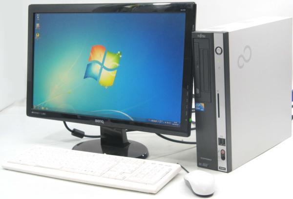 中古デスクトップパソコン 富士通 ESPRIMO D750/A■22液晶セット(富士通 Windows7 Corei3)【中古】【中古パソコン/中古PC】