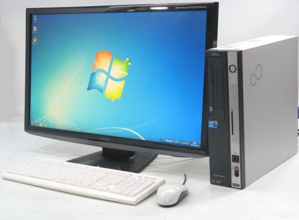 中古デスクトップパソコン 富士通 ESPRIMO D750/A■27液晶セット(富士通 Windows7 Corei3)【中古】