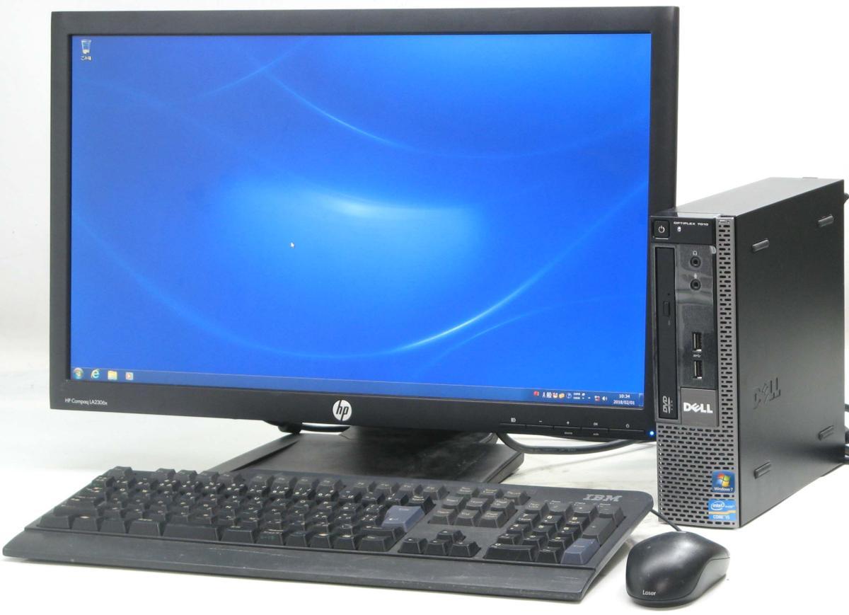 中古デスクトップパソコン DELL Optiplex 7010-3470USDT■23液晶セット(デル Windows7 Corei5 グラボ ビデオカード)【中古】【中古パソコン/中古PC】