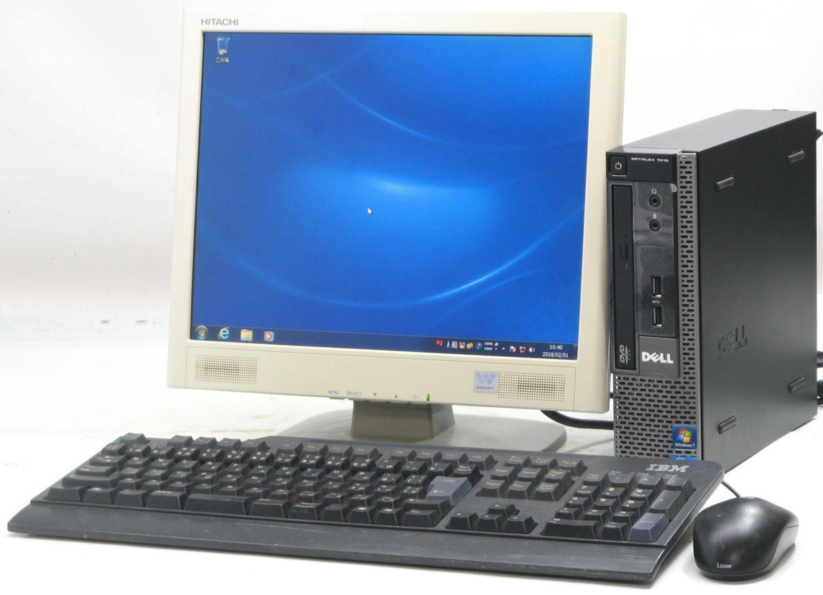 中古デスクトップパソコン DELL Optiplex 7010-3470USDT■15液晶セット(デル Windows7 Corei5 グラボ ビデオカード)【中古】【中古パソコン/中古PC】