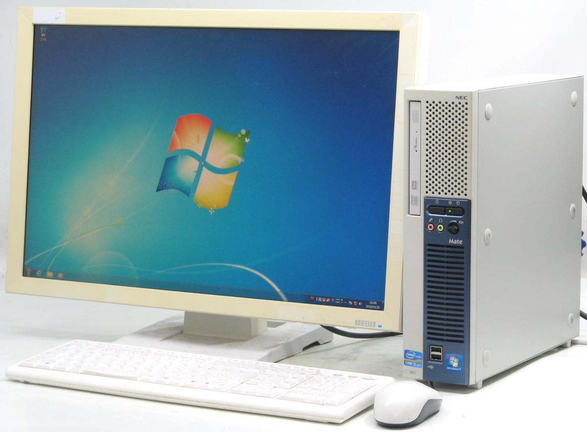 b1d3d9952fe5 NEC PC-MK25MEZCC□24液晶セット(NEC Windows7 Corei5 グラボ ビデオカード GeForce
