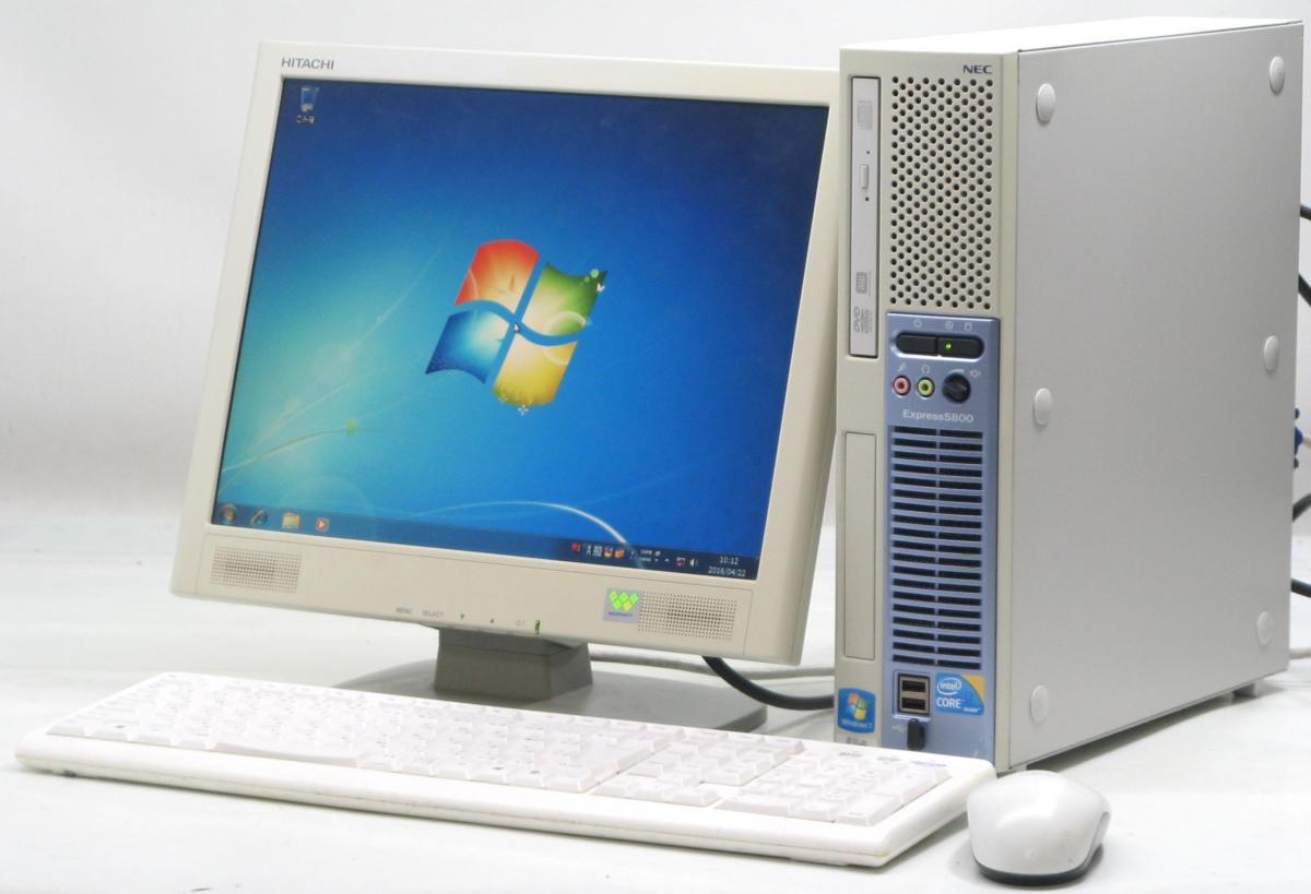 中古デスクトップパソコン NEC Express 5800/51Lg■15液晶セット(NEC Windows7 Corei3 DVDスーパーマルチドライブ)【中古】【中古パソコン/中古PC】