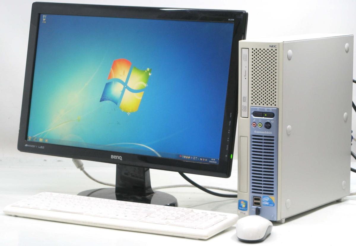 中古デスクトップパソコン NEC Express 5800/51Lg■22液晶セット(NEC Windows7 Corei3 DVDスーパーマルチドライブ)【中古】【中古パソコン/中古PC】