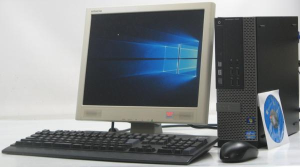 中古デスクトップパソコン DELL Optiplex 7010-3400SF■15液晶セット(デル Windows10(MRR)付 Corei7)【中古】【中古パソコン/中古PC】