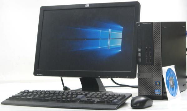 中古デスクトップパソコン DELL Optiplex 7010-3400SF■19W液晶セット(デル Windows10(MRR)付 Corei7)【中古】【中古パソコン/中古PC】