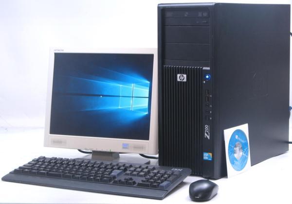 中古デスクトップパソコン HP Z200 Workstation■15液晶セット(ヒューレット・パッカード Windows10(MRR)付 Corei5 グラボ ビデオカード)【中古】【中古パソコン/中古PC】
