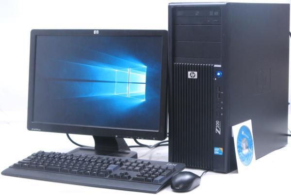 中古デスクトップパソコン HP Z200 Workstation■19W液晶セット(ヒューレット・パッカード Windows10(MRR)付 Corei5 グラボ ビデオカード)【中古】【中古パソコン/中古PC】