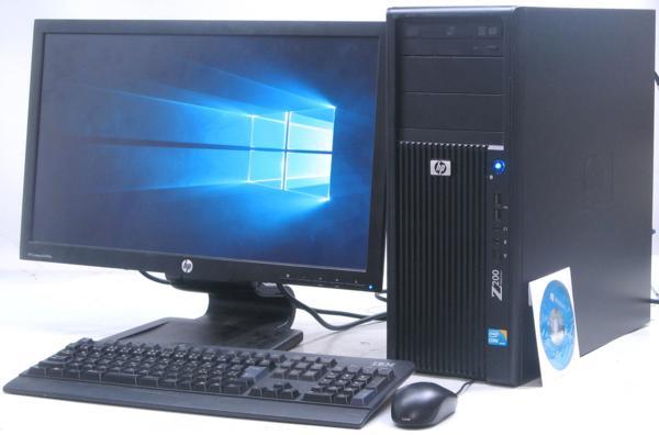 中古デスクトップパソコン HP Z200 Workstation■23液晶セット(ヒューレット・パッカード Windows10(MRR)付 Corei5 グラボ ビデオカード)【中古】【中古パソコン/中古PC】