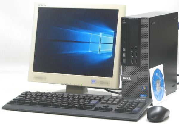 中古デスクトップパソコン DELL Optiplex 7010-3400SF■15液晶セット(デル Windows10(MRR)付 Corei7 DVDスーパーマルチドライブ)【中古】【中古パソコン/中古PC】
