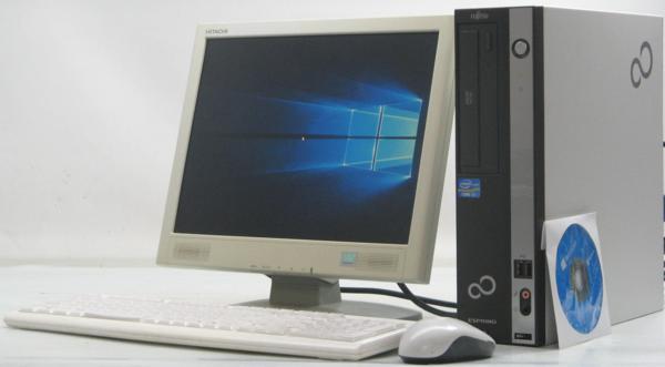 中古デスクトップパソコン 富士通 ESPRIMO D581/D■15液晶セット(富士通 Windows10(MRR)付 Corei3) Corei3 Windows10(MRR)付【中古】【中古パソコン/中古PC】