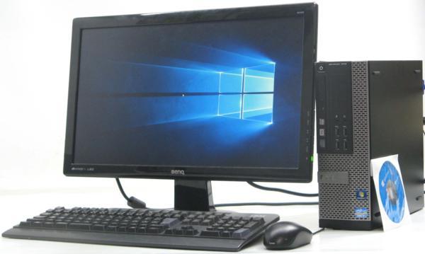 中古デスクトップパソコン DELL Optiplex 7010-3400SF■22液晶セット(デル Windows10(MRR)付 Corei7 グラボ ビデオカード GeforceGTX1050 DVDスーパーマルチドライブ HDMI出力端子)【中古】【中古デスクトップパソコン/中古PC】