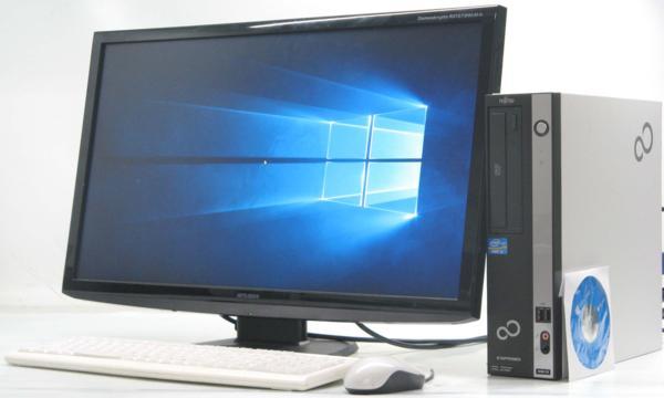 中古デスクトップパソコン 富士通 ESPRIMO D581/D■27液晶セット(富士通 Windows10(MRR)付 Corei3 グラボ ビデオカード GeForce HDMI出力端子)【中古】【中古パソコン/中古PC】