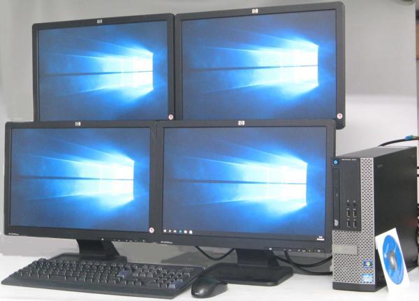 中古デスクトップパソコン DELL Optiplex 7010-3200SF■19ワイド'QuadDisplay(デル Windows10(MRR)付 Corei5 グラボ ビデオカード GeForce DVDスーパーマルチドライブ)【中古】【中古パソコン/中古PC】