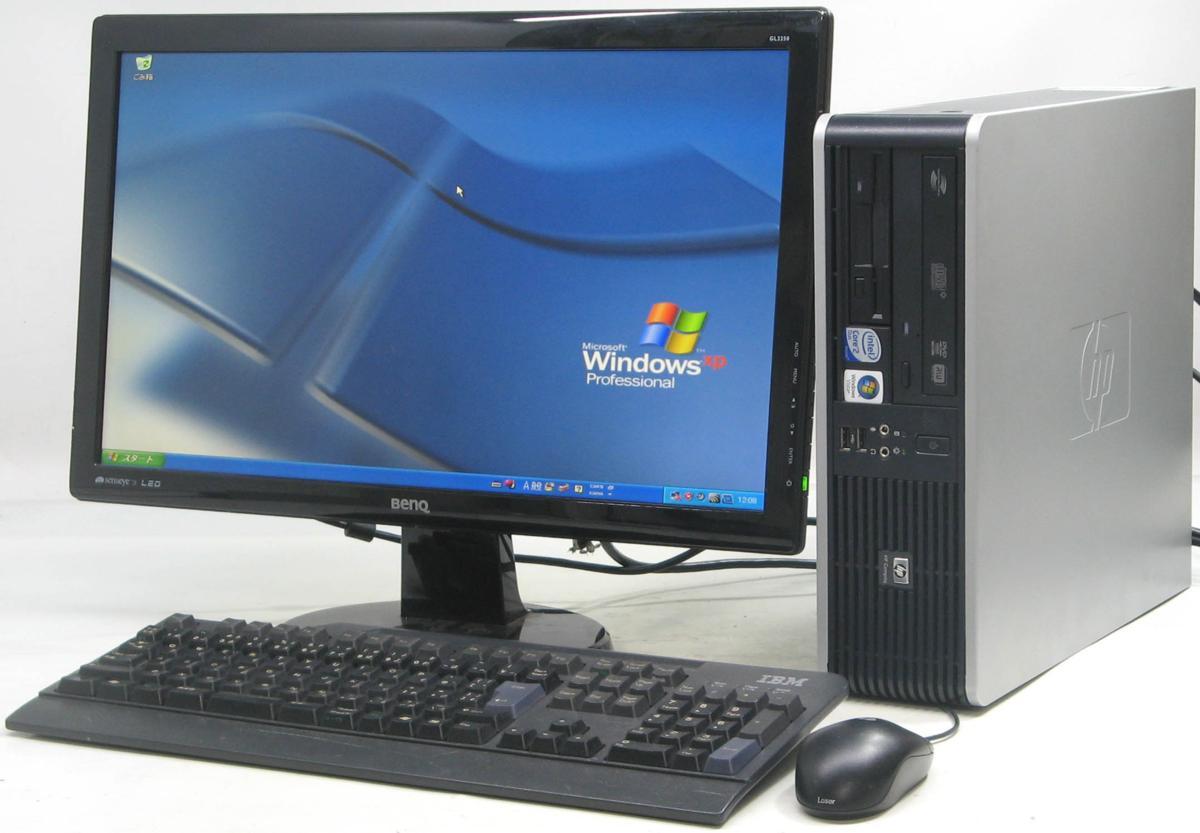 中古デスクトップパソコン HP Compaq dc5800SFF-3000■22液晶セット(ヒューレット・パッカード WindowsXP DVDスーパーマルチドライブ)【中古】【中古パソコン/中古PC】