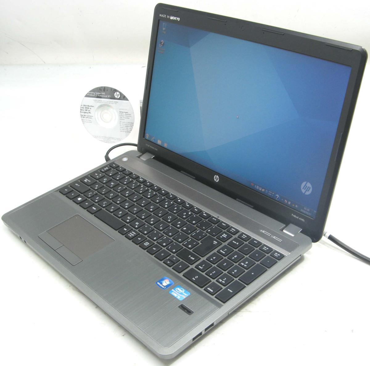 中古ノートパソコン HP ProBook 4540S(ヒューレット・パッカード Windows7 Corei5 DVDスーパーマルチドライブ HDMI出力端子)【中古】【中古パソコン/中古PC】