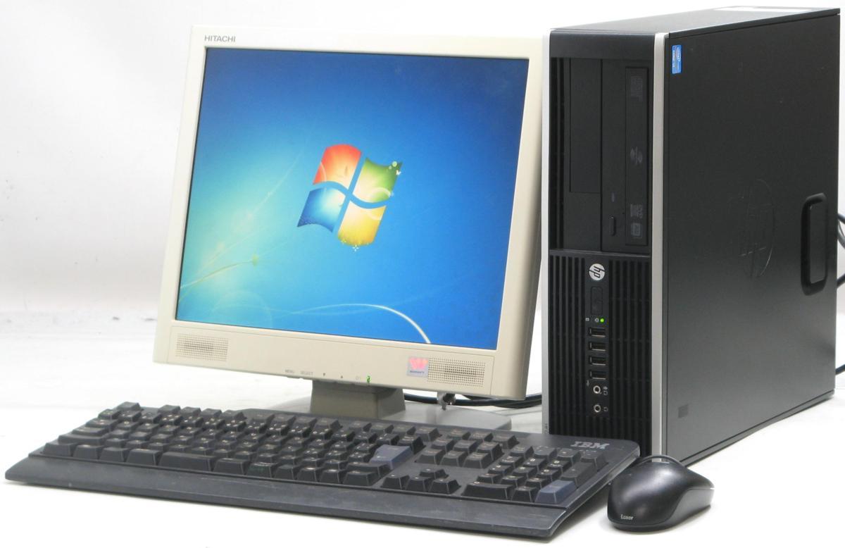 中古デスクトップパソコン HP Compaq Pro 6300 SFF-3470■15液晶セット(ヒューレット・パッカード Windows7 Corei5)【中古】【中古パソコン/中古PC】