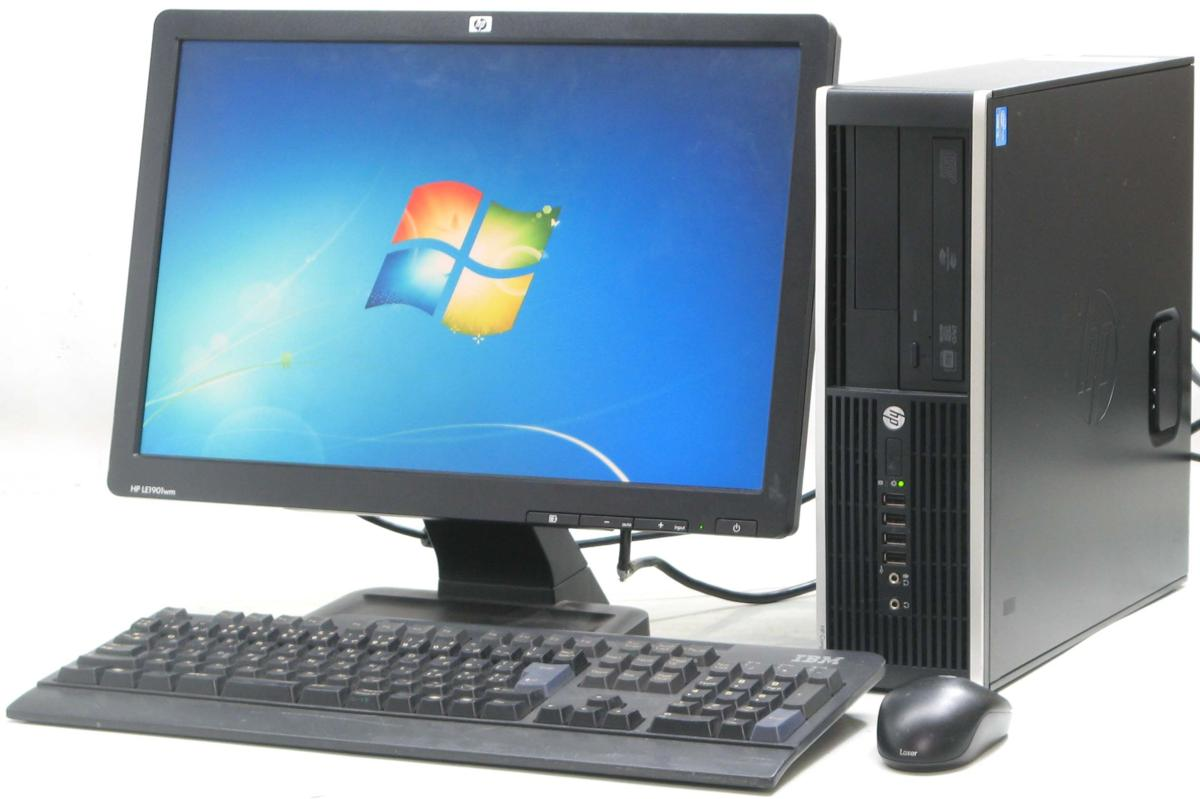 中古デスクトップパソコン HP Compaq Pro 6300 SFF-3470■19W液晶セット(ヒューレット・パッカード Windows7 Corei5 DVDスーパーマルチドライブ)【中古】【中古パソコン/中古PC】