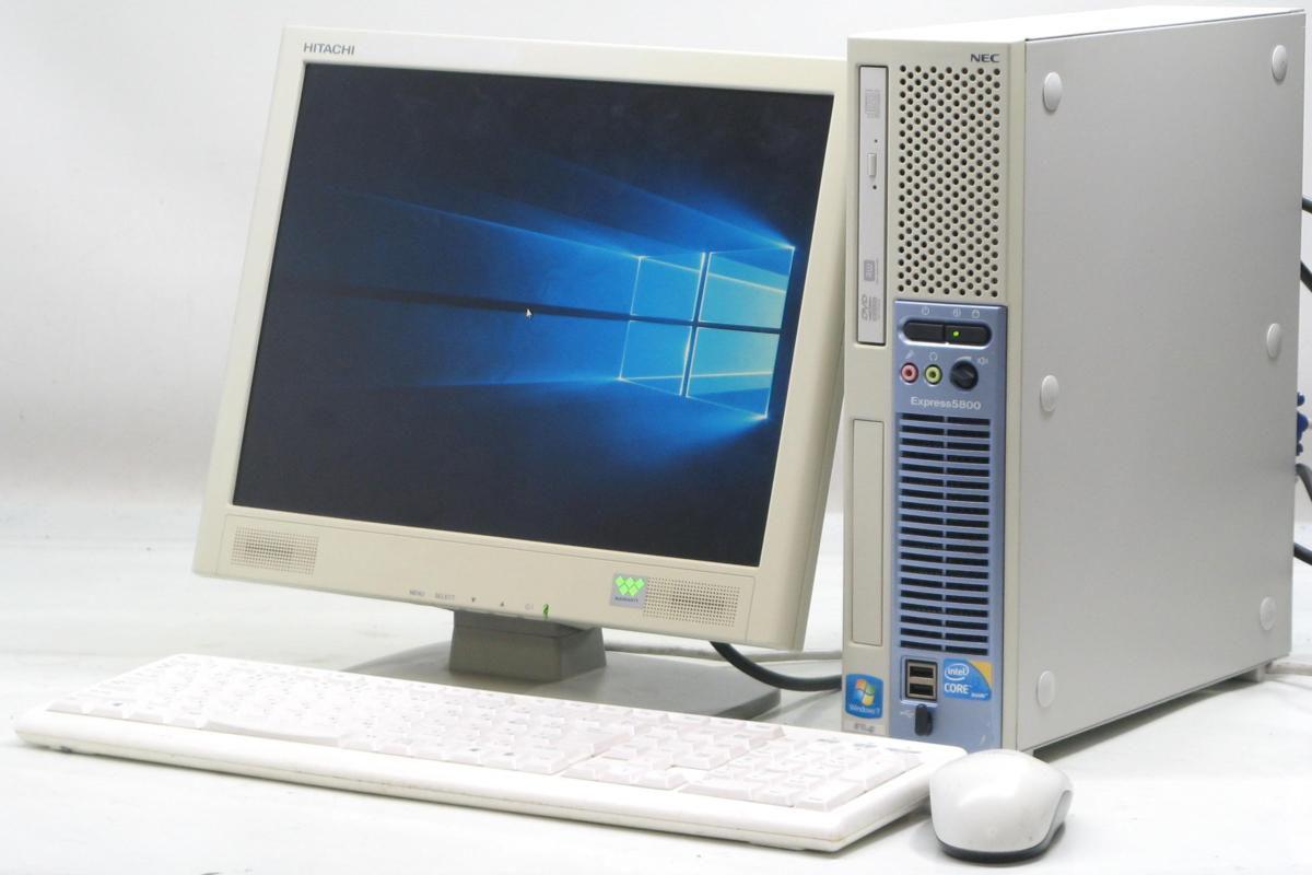 中古デスクトップパソコン NEC Express 5800/51Lg■15液晶セット(NEC Windows10 Corei3 DVDスーパーマルチドライブ グラボ ビデオカード GeForce HDMI出力端子)【中古】【中古パソコン/中古PC】