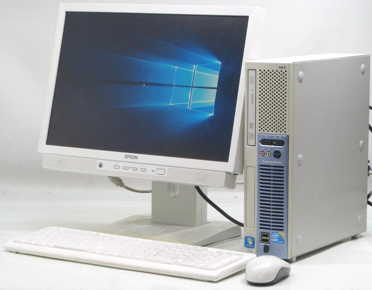 中古デスクトップパソコン NEC Express 5800/51Lg■19W液晶セット(NEC Windows10 Corei3 DVDスーパーマルチドライブ グラボ ビデオカード GeForce HDMI出力端子)【中古】【中古パソコン/中古PC】