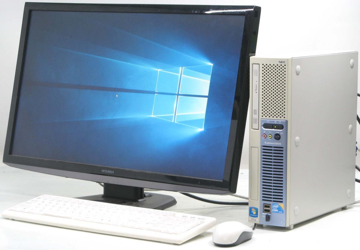 中古デスクトップパソコン NEC Express 5800/51Lg■27液晶セット(NEC Windows10 Corei3 DVDスーパーマルチドライブ グラボ ビデオカード GeForce HDMI出力端子)【中古】【中古パソコン/中古PC】