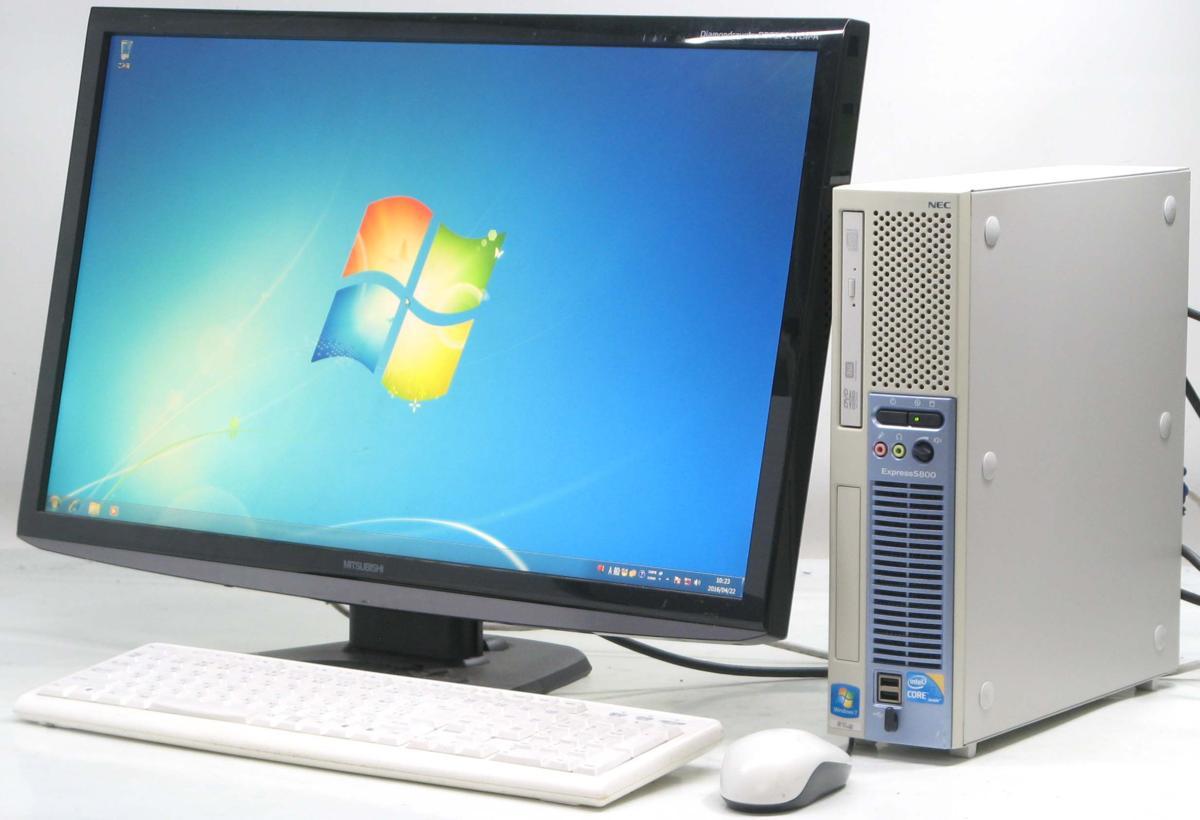 中古デスクトップパソコン NEC Express 5800/51Lg■27液晶セット(NEC Windows7 Corei3 DVDスーパーマルチドライブ グラボ ビデオカード GeForce HDMI出力端子)【中古】【中古パソコン/中古PC】