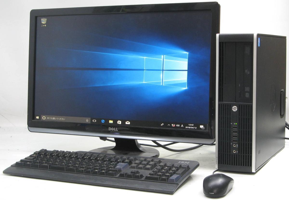 中古デスクトップパソコン HP Compaq 6300Elite SFF-3470■24液晶セット(ヒューレット・パッカード Windows10 Corei5 DVDスーパーマルチドライブ グラボ ビデオカード GeForce HDMI出力端子)【中古】【中古パソコン/中古PC】