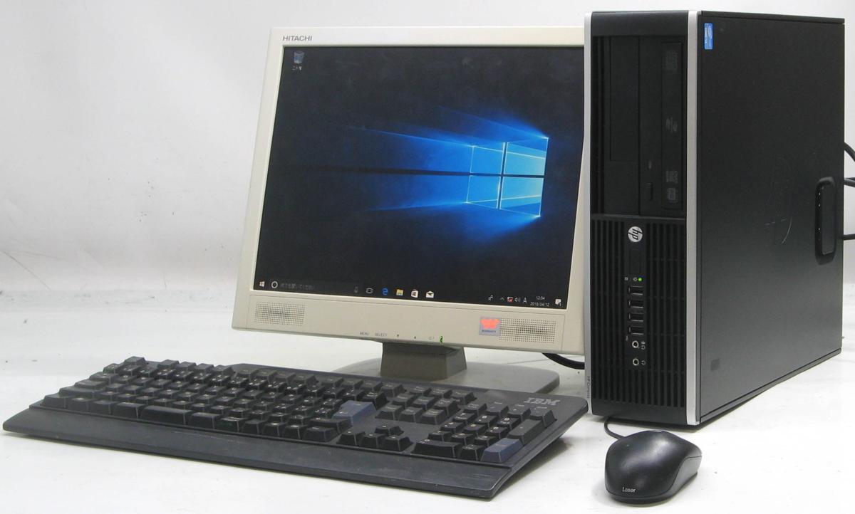 中古デスクトップパソコン HP Compaq 6300Elite SFF-3470■15液晶セット(ヒューレット・パッカード Windows10 Corei5 DVDスーパーマルチドライブ グラボ ビデオカード GeForce HDMI出力端子)【中古】【中古パソコン/中古PC】