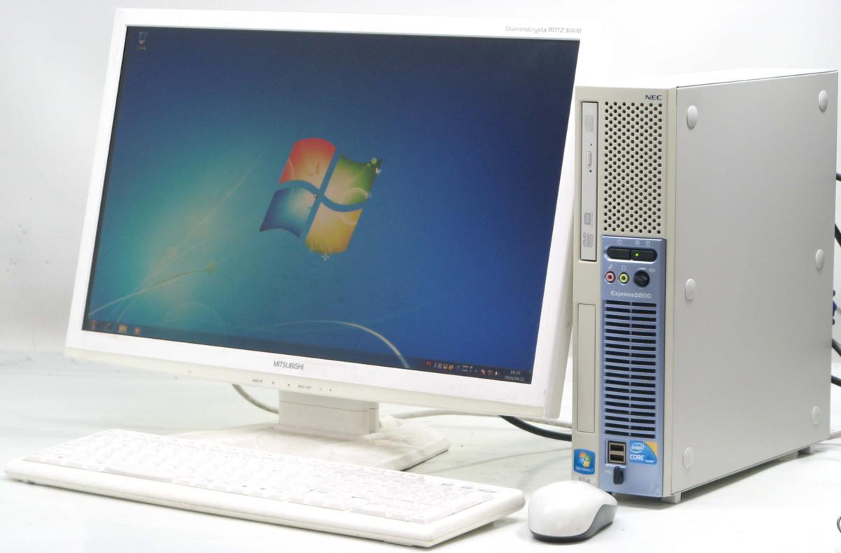 中古デスクトップパソコン NEC Express 5800/51Lg■23液晶セット(NEC Windows7 Corei3 DVDスーパーマルチドライブ グラボ ビデオカード GeForce HDMI出力端子)【中古】【中古パソコン/中古PC】