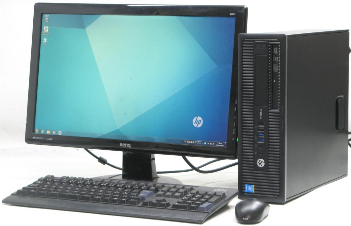 中古デスクトップパソコン HP PRODESK 600 G1 SFF 4590■22液晶セット(ヒューレット・パッカード Windows7 Corei5 DVDスーパーマルチドライブ グラボ ビデオカード GeForce HDMI出力端子)【中古】【中古パソコン/中古PC】
