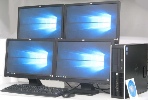 中古デスクトップパソコン HP Compaq 6200Elite SFF-3100■19ワイドQuadDisplay(ヒューレット・パッカード Windows10 Corei3)【中古】【中古パソコン/中古PC】