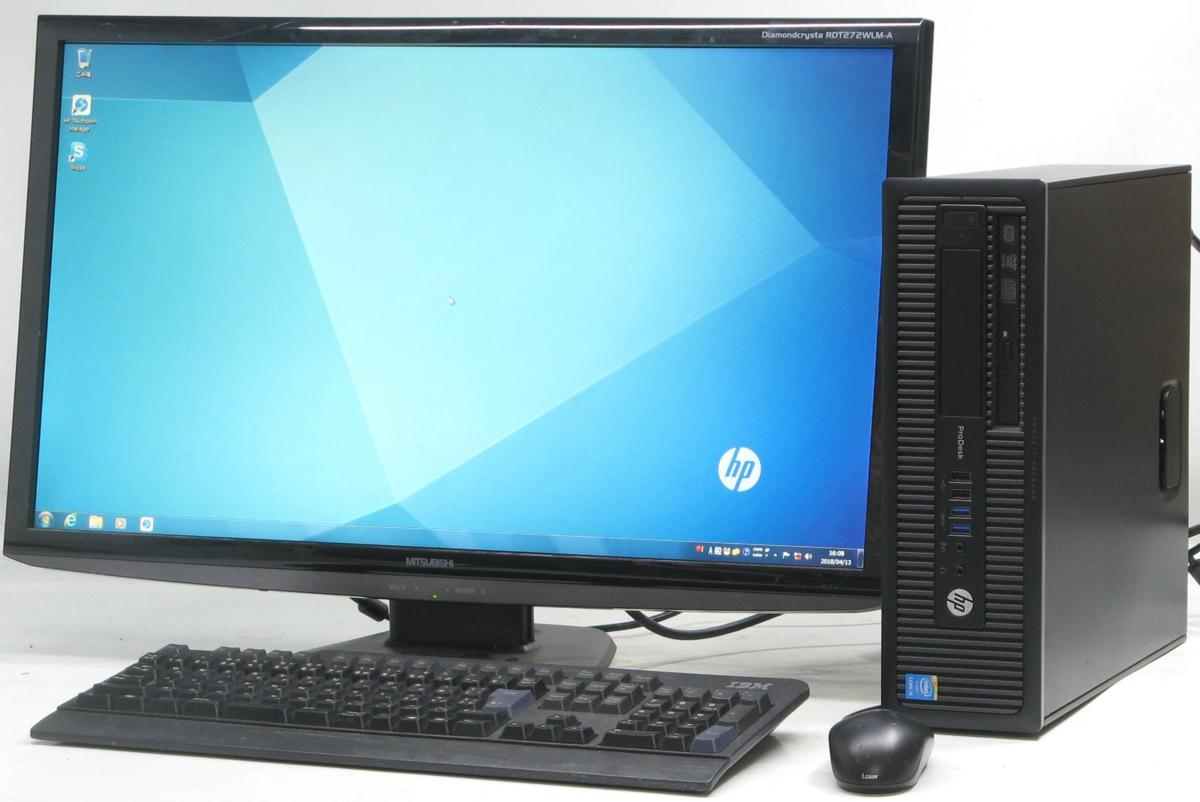 used-pcshop: Used personal computer desktop Windows7 HP PRODESK ...