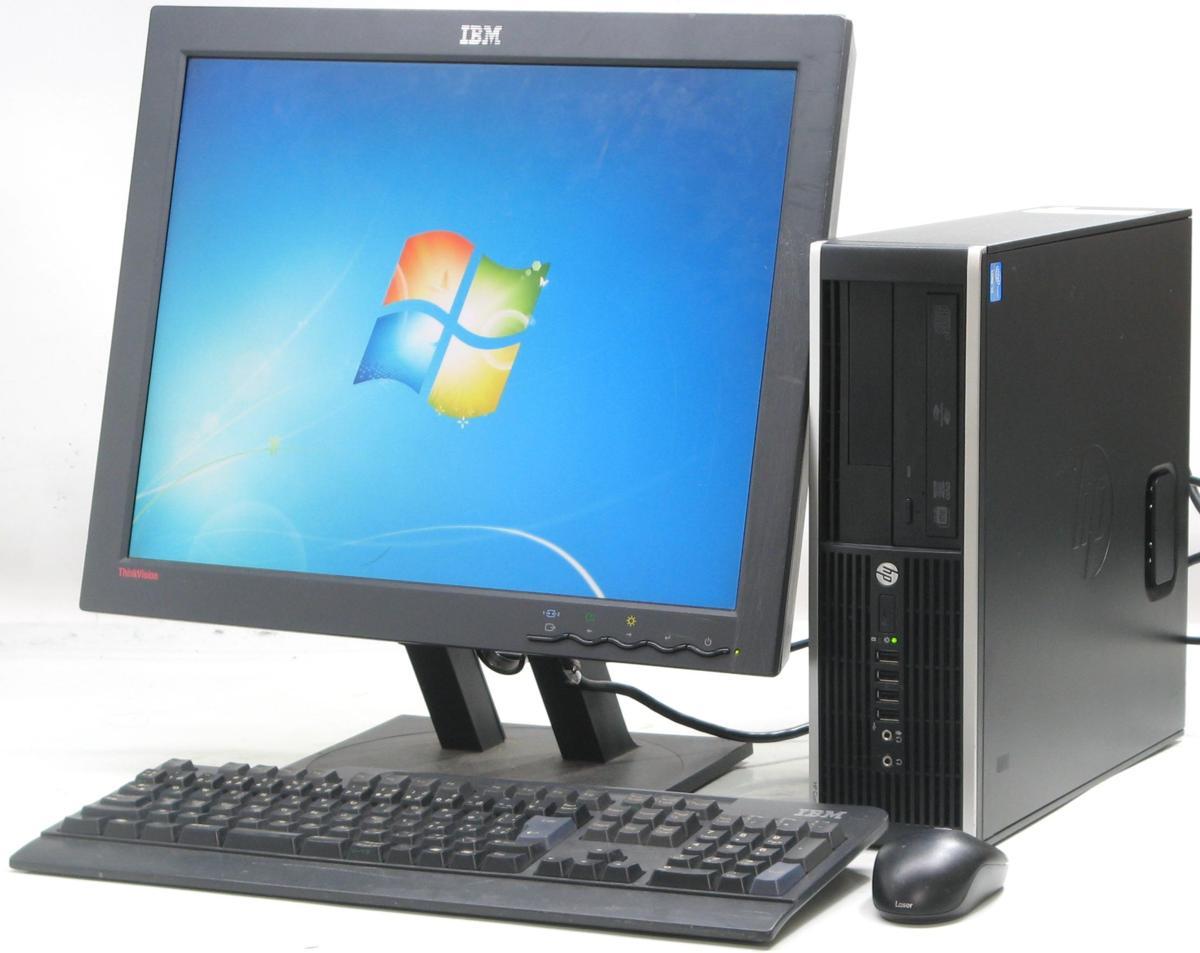 中古デスクトップパソコン HP Compaq Pro 6300 SFF-3470■20液晶セット(ヒューレット・パッカード Windows7 Corei5 DVDスーパーマルチドライブ グラボ ビデオカード GeForce HDMI出力端子)【中古】【中古パソコン/中古PC】