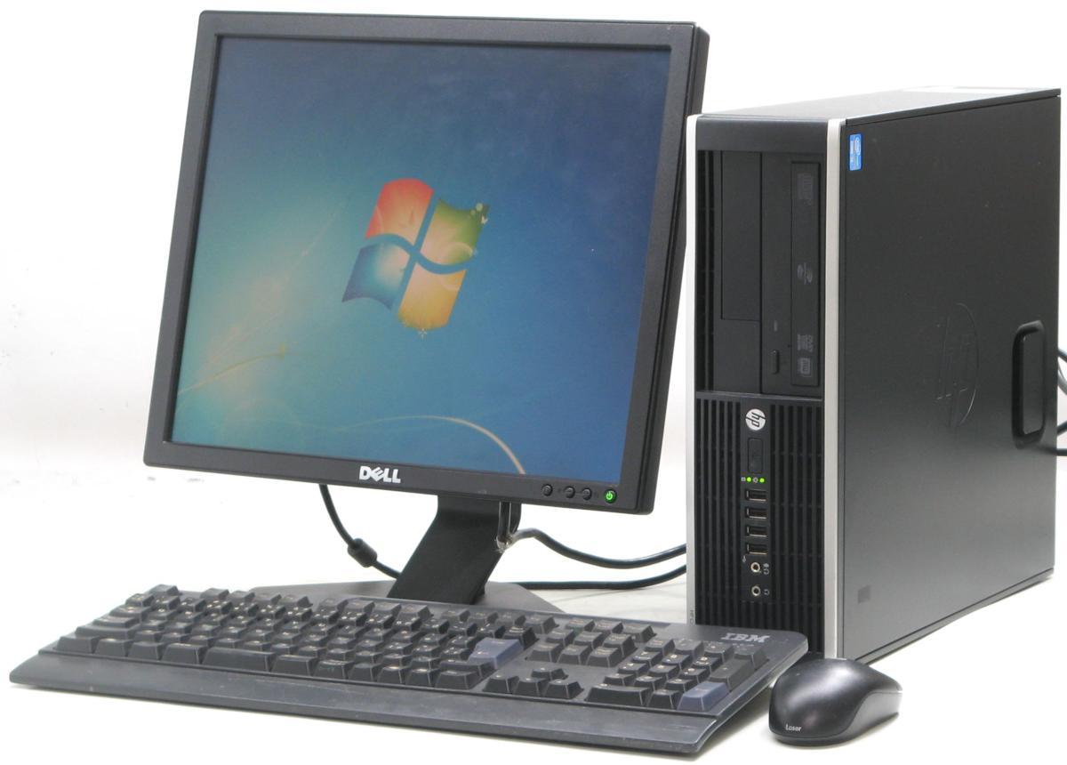 中古デスクトップパソコン HP Compaq Pro 6300 SFF-3470■17液晶セット(ヒューレット・パッカード Windows7 Corei5 DVDスーパーマルチドライブ グラボ ビデオカード GeForce HDMI出力端子)【中古】【中古パソコン/中古PC】