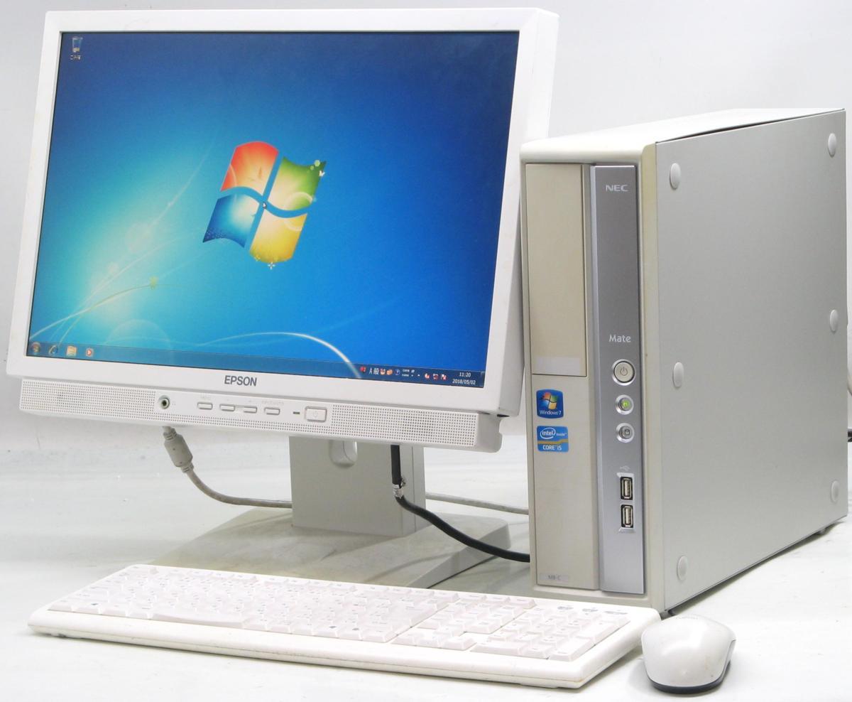 中古デスクトップパソコン NEC PC-MK25MBZCC■19W液晶セット(NEC Windows7 Corei5 グラボ ビデオカード)【中古】【中古パソコン/中古PC】