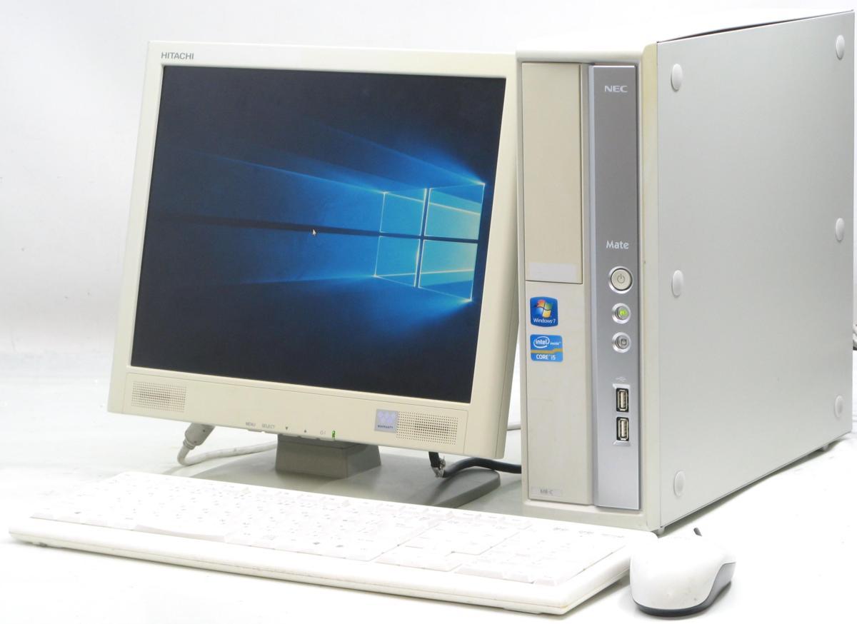 中古デスクトップパソコン NEC PC-MK25MBZCC■15液晶セット(NEC Windows10 Corei5 グラボ ビデオカード)【中古】【中古パソコン/中古PC】