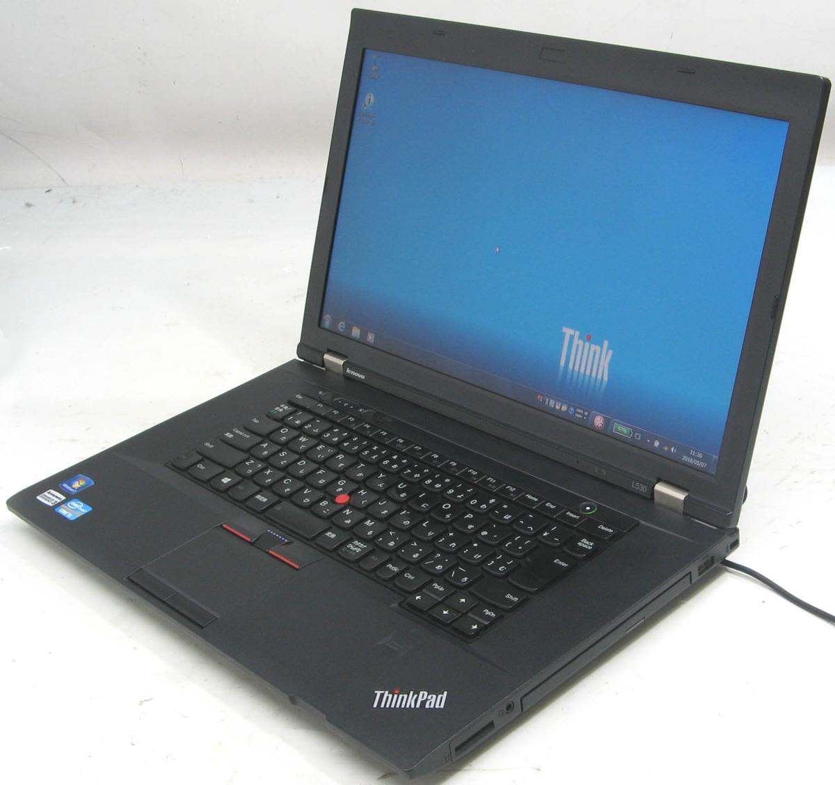 中古ノートパソコン Lenovo ThinkPad L530 2475-A11(レノボ IBM Windows7 Corei5 グラボ ビデオカード DVDスーパーマルチドライブ)【中古】【中古パソコン/中古PC】