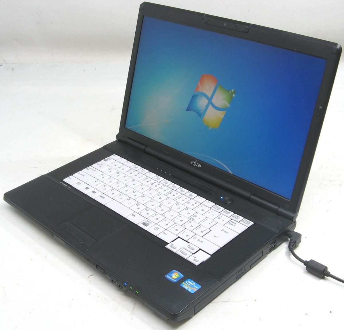 中古ノートパソコン 富士通 Lifebook A572/F FMVNA7SEZ1(富士通 Windows7 Corei3 DVDスーパーマルチドライブ HDMI出力端子)【中古】【中古パソコン/中古PC】