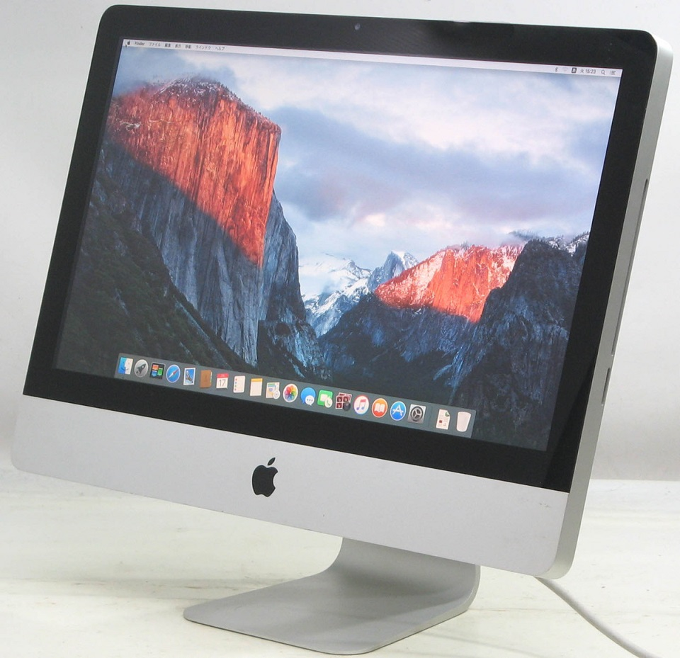 Apple iMac MB950J/A(Core2Duo 3.06GHz 8GB HDD320GB 21.5インチ グラフィックボード GeForce MacOS 10.11.6)アップル マック マッキントッシュ【中古】中古MAC