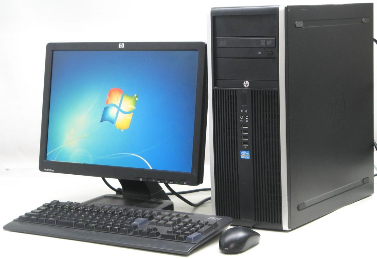 中古デスクトップパソコン HP Compaq 8300Elite CMT-3770■19W液晶セット(ヒューレット・パッカード Windows7 Corei7 グラボ ビデオカード DVDスーパーマルチドライブ)【中古】【中古パソコン/中古PC】